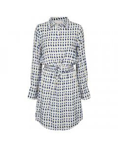 Minus Skjortekjole, Noelle, Peak Print Icy Blue