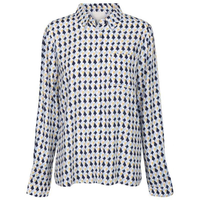 Minus Skjorte, Noelle, Peak Print Icy Blue