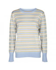 Minus Strikbluse, Amara, Striped Icy Blue