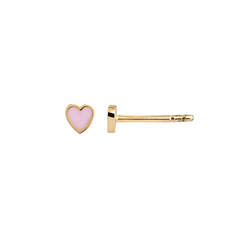 Stine a ørering, petit love heart enamel, gold/light pink fra stine a fra superlove