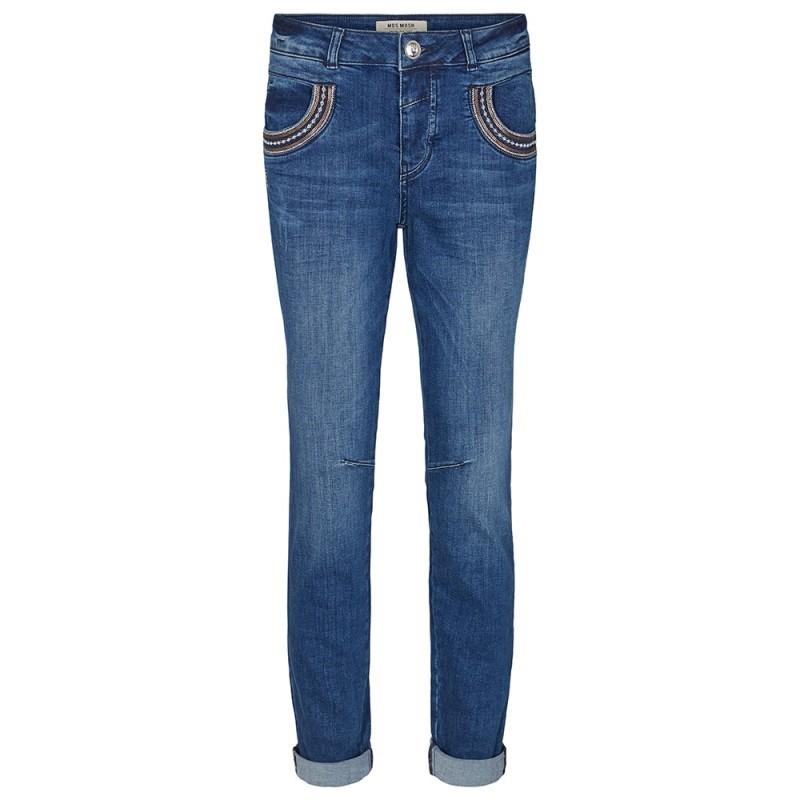 Image of   Mos Mosh Jeans, Naomi Muscat Long, Blue Denim