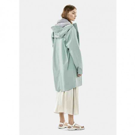 Rains Regnjakke, Lang, Dusty Mint på model