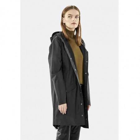 Rains Regnjakke, Lang, Black model front