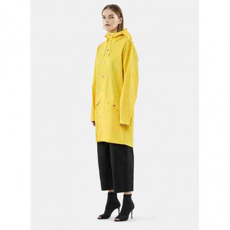 Rains Regnjakke, Lang, Yellow forside