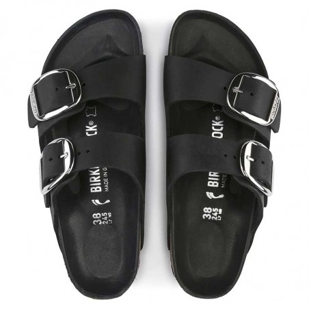 Birkenstock Sandaler, Arizona Big Buckle, Black ovenfra