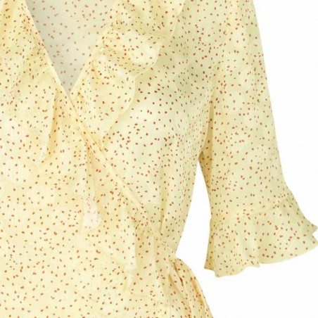 Stig P Bluse, Catie, Light Yellow detalje