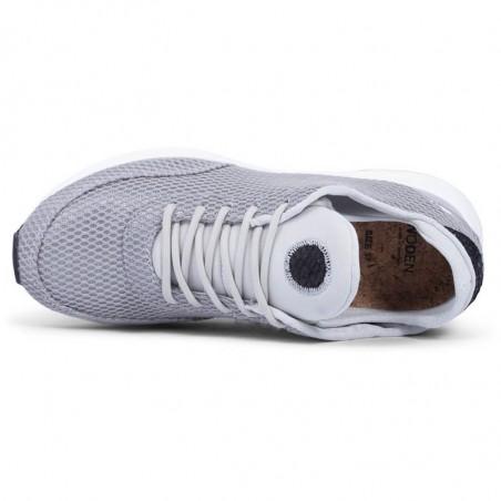 Woden Sneakers, Thea Mesh, Sea Fog Grey top