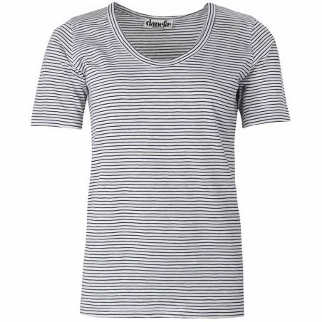 Danefæ T-shirt, Scoop Neck, Navy/Milk