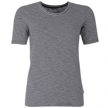 Danefæ T-shirt, Scoop Neck Oragnic, Navy/Chalk
