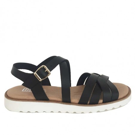 LBDK Sandaler, Eva White Sole, Black