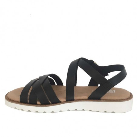 LBDK Sandaler, Eva White Sole, Black - Side