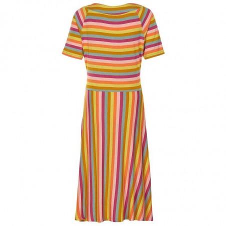 Nümph Kjole, Kora Knit, Multi Stripe - Bagside
