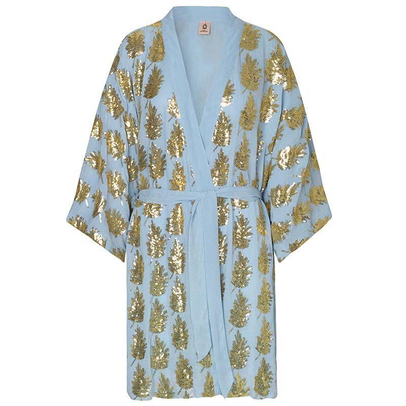 Beck Søndergaard Kimono, Liberte Leaf, Powder Blue