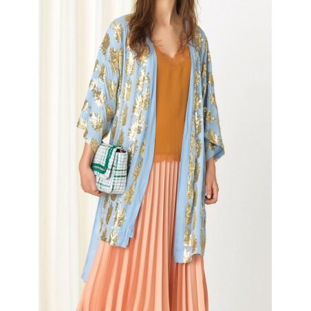 Beck Søndergaard Kimono, Liberte Leaf, Powder Blue front