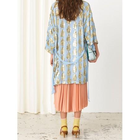 Beck Søndergaard Kimono, Liberte Leaf, Powder Blue bagside
