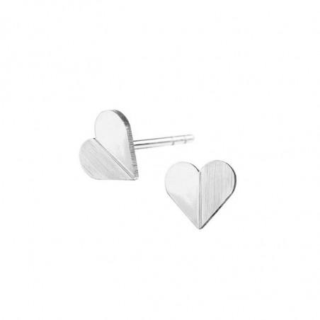 Scherning Øreringe, Heart, Silver