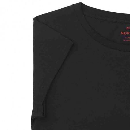 Mads Nørgaard T Shirt, Organic Favorit Teasy, Black - Detalje