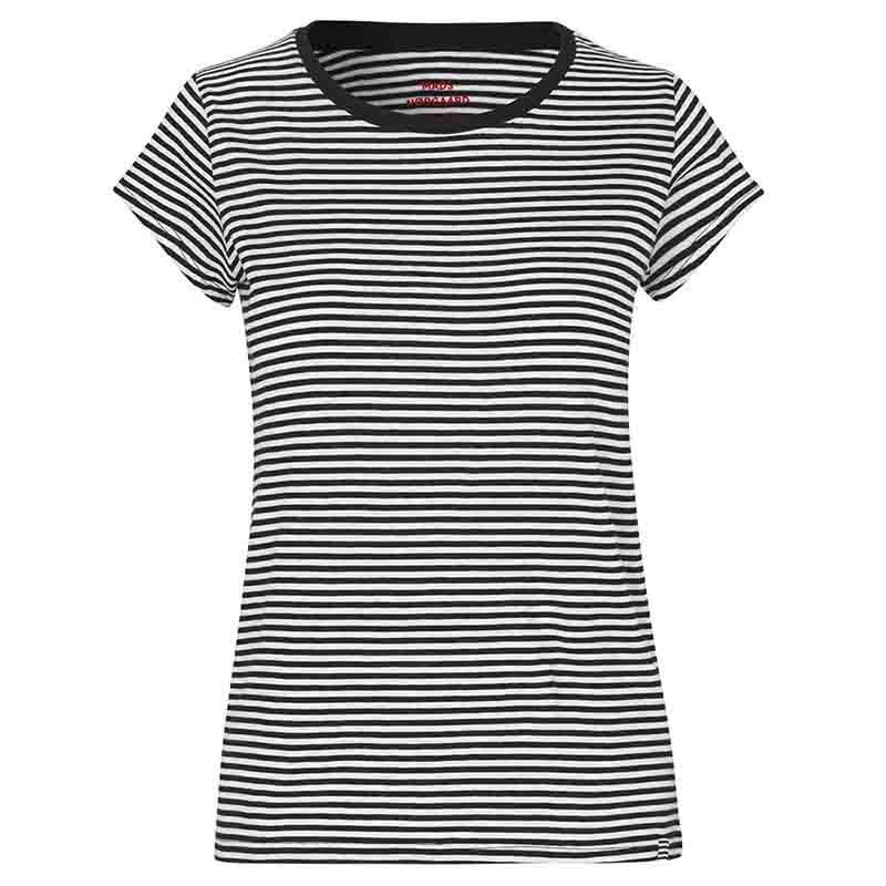 Mads Nørgaard T Shirt, Teasy Stripe Oragnic, Black/White