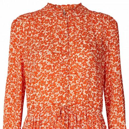 Lollys Laundry Kjole, Sienna, Orange detalje