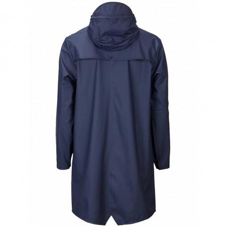 Rains Regnjakke, Lang, Blue bagside