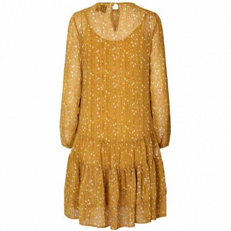 Lollys Laundry Kjole, Piper, Mustard - Bagside
