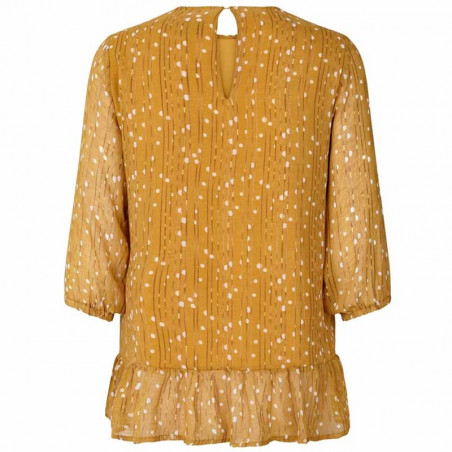 Lollys Laundry Bluse, Jenny, Mustard - Bagside