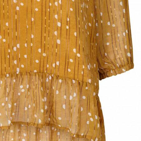 Lollys Laundry Bluse, Jenny, Mustard - Detalje