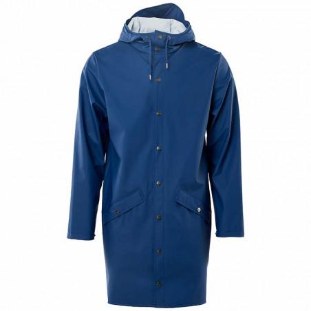 Rains Regnjakke, Lang, Klein Blue