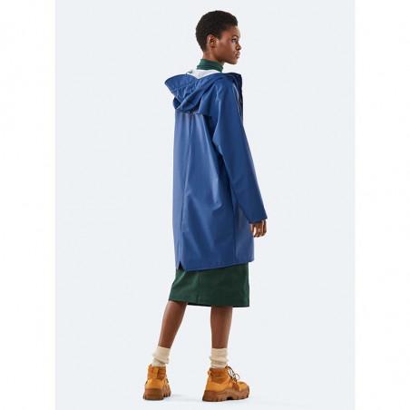 Rains Regnjakke, Lang, Klein Blue - Model bagside