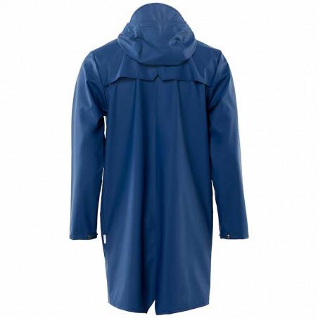 Rains Regnjakke, Lang, Klein Blue - Bagside
