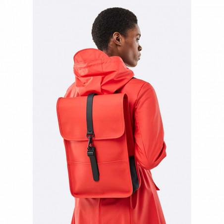 Rains Rygsæk, Backpack Mini, Red - på model