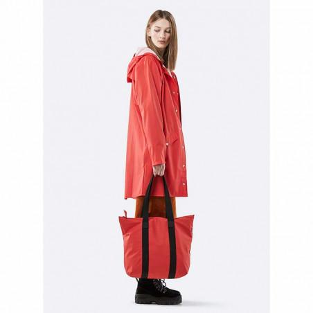 Rains Taske, Tote Rush, Red - model