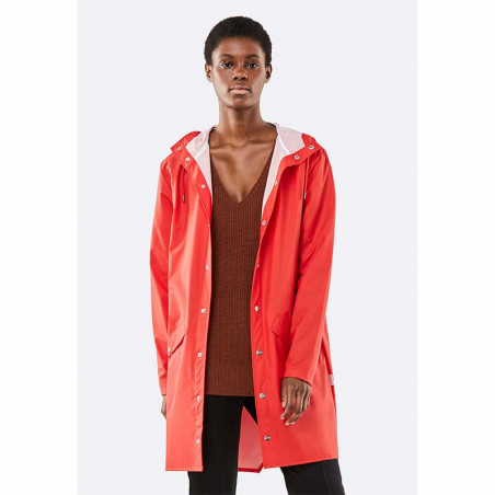 Rains Regnjakke, Lang, Red - model, halvfigur