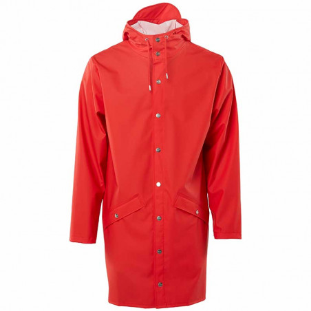 Rains Regnjakke, Lang, Red - forside