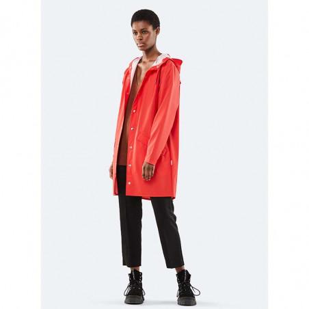 Rains Regnjakke, Lang, Red - model