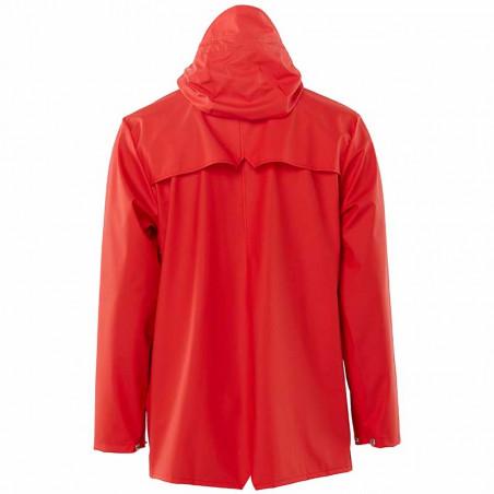 Rains Regnjakke, Kort, Red - bagside