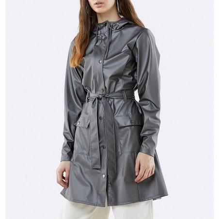 Rains Regnjakke, Curve, Metallic Charcoal - model