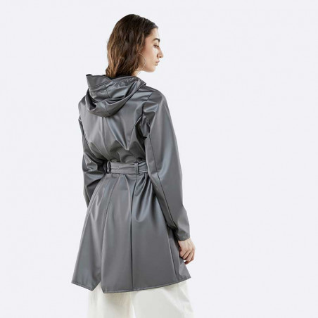 Rains Regnjakke, Curve, Metallic Charcoal - model bagfra