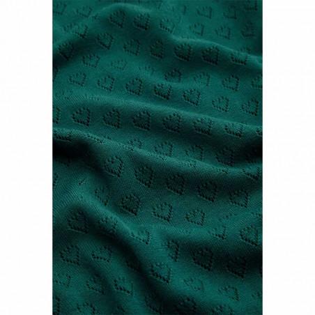 King Louie Bluse, Audrey Heart Ajour, Dragonfly Green detalje