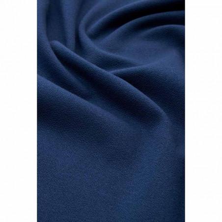 King Louie Nederdel, Sofia Milano Crepe, Autumn Blue - closeup