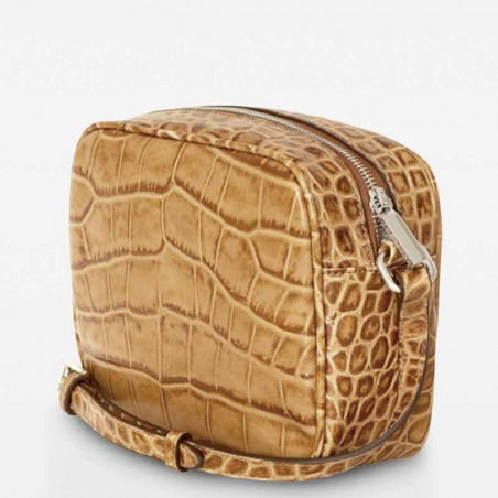 Decadent Taske, Carly Crossover, Crocco Cognac - Side