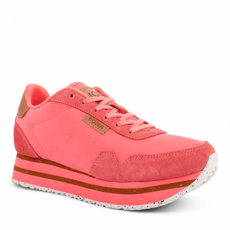Woden Sneakers, Nora II Plateau, Sugar Coral side