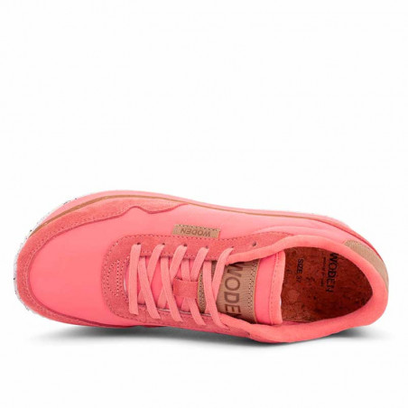Woden Sneakers, Nora II Plateau, Sugar Coral ovenfra