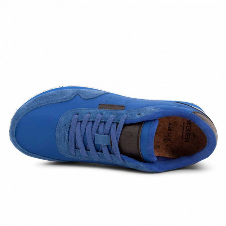 Woden Sneakers, Nora II, Royal Blue ovenfra
