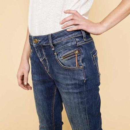 Mos Mosh Jeans, Nelly Favorite, Blue Denim detalje