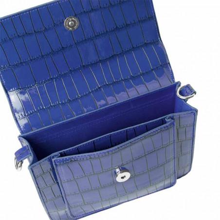Hvisk Taske, Cayman Pocket, Blue/Black åben