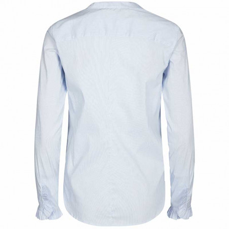 Mos Mosh Skjorte, Mattie Check, Light Blue bagside