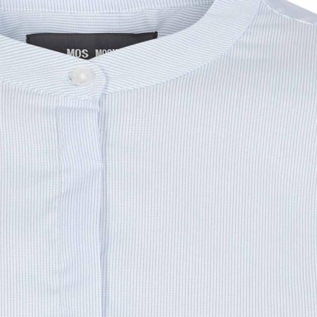 Mos Mosh Skjorte, Mattie Check, Light Blue detalje