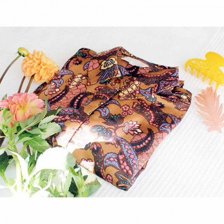 Minus Skjorte, Cardi, Autumn Bloom Tobacco style