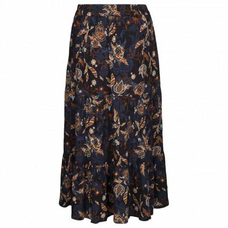 Minus Nederdel, Birla, Dark Floral Print - Bagside